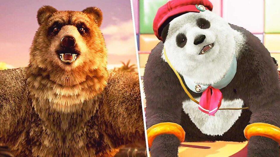 Kuma e Panda giocabili in Tekken 7