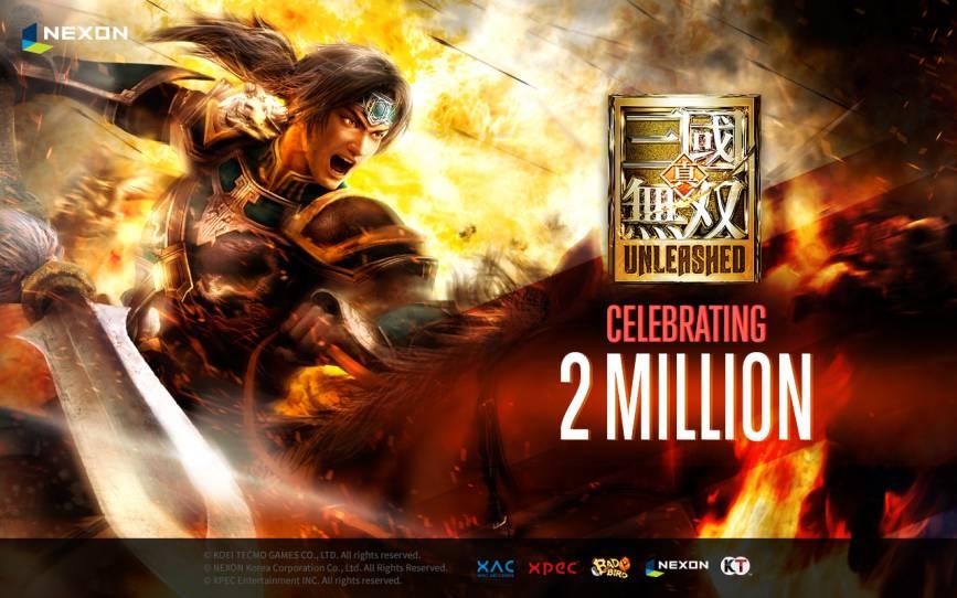 Dynasty Warriors: Unleashed: 1 milione di download in un giorno