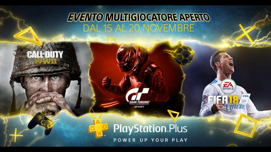 Dal 15 al 20 novembre PlayStation Plus aprirà le porte del multiplayer online