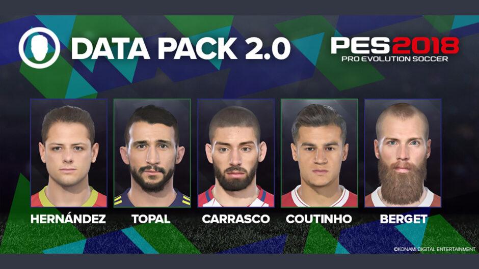 PES 2018: Annunciata la data di lancio del Data Pack 2.0