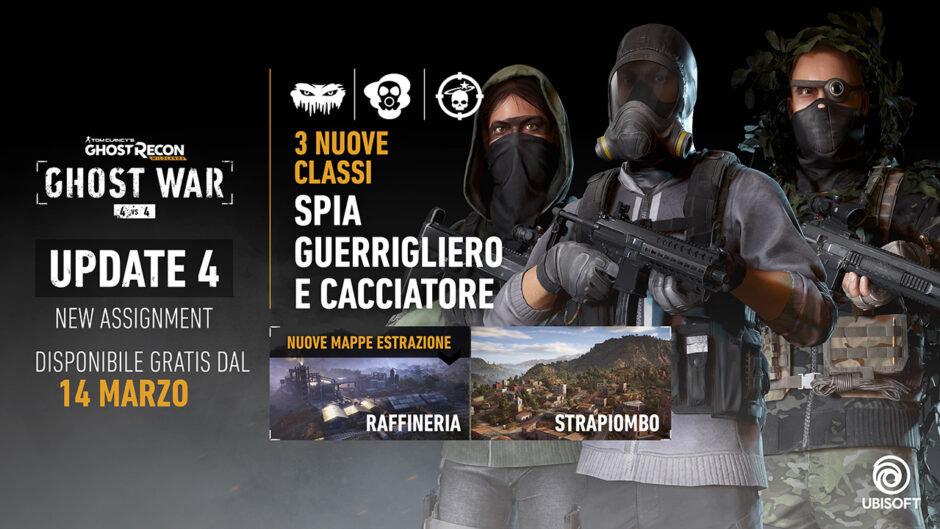 "Disponibile l'aggiornamento gratuito ""new assignment"" per tom clancy's ghost recon wildlands"