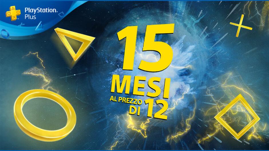 PlayStation plus rilancia la promozione 15×12