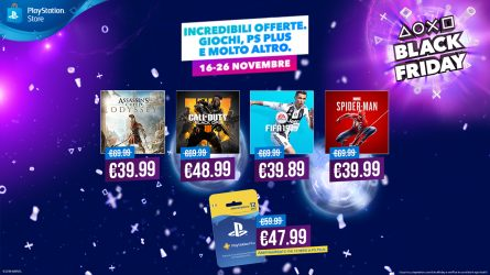 Iniziano le offerte di playstation per il black friday
